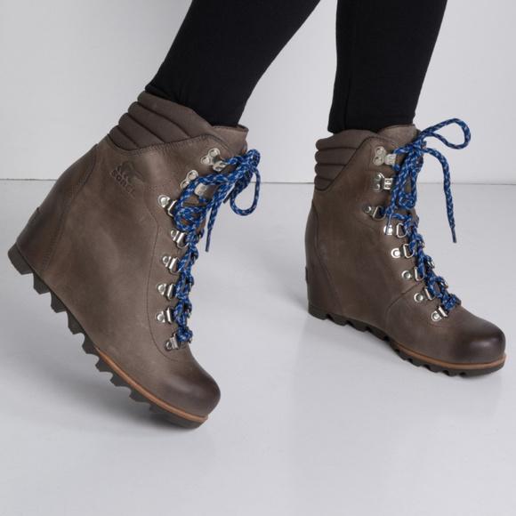 35c6c8ece99 Sorel Conquest Wedge Lace up Boot NWOB. M 5b88241f619745f714d48f0b